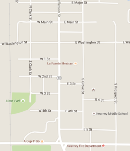 Google Map of Kearney Downtown