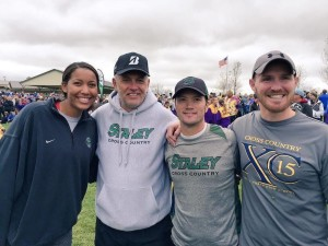 (Left to Right) Coaches Brynn Williamson, Todd Warner, George Adair, Elijah Bears