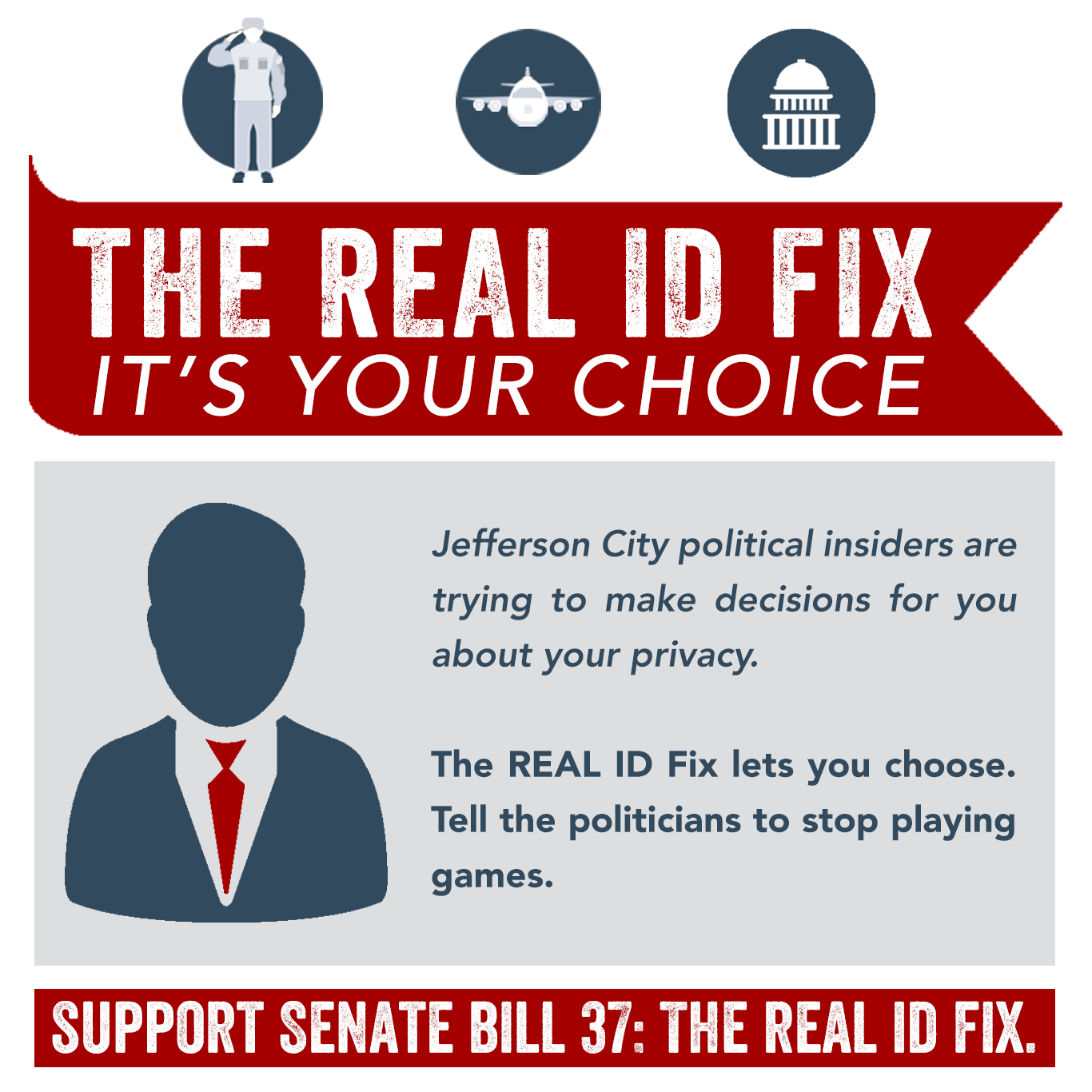 Missouri senator ryan silvey fighting for clay county the my bill senate bill 37 or the real id fix empowers you to make a choice about what kind of id you want ccuart Images